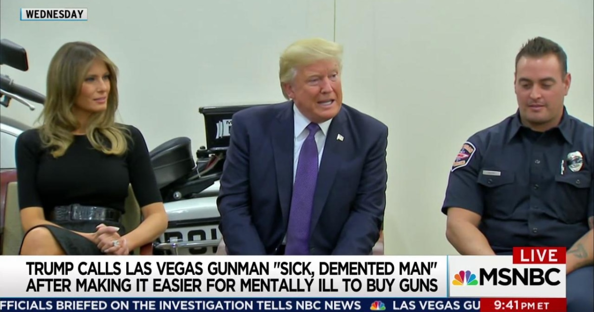 Trump signed law to help mentally ill get guns