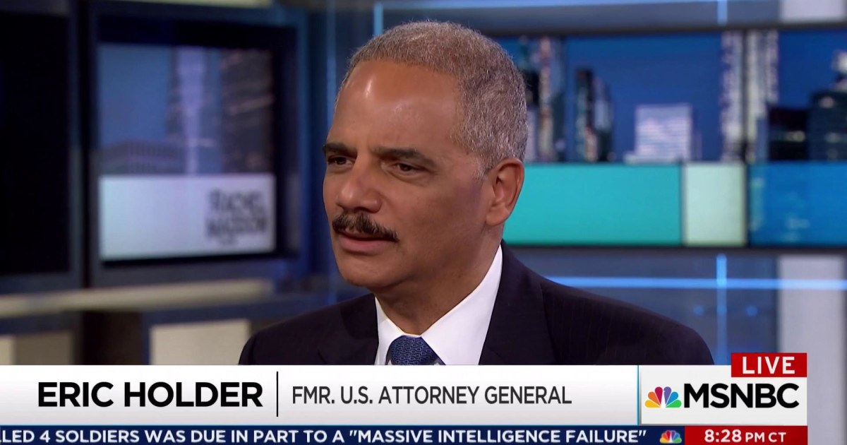 Holder: 'There has to be a wall' between White House and DoJ