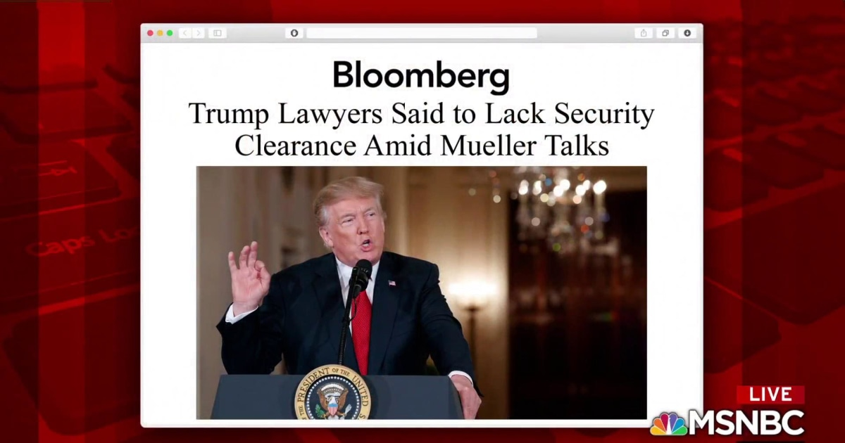 Trump Lead Lawyers Lack Security Clearance Report
