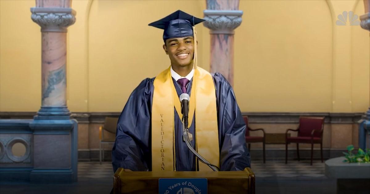 Rochester mayor lets school's first black valedictorian ...