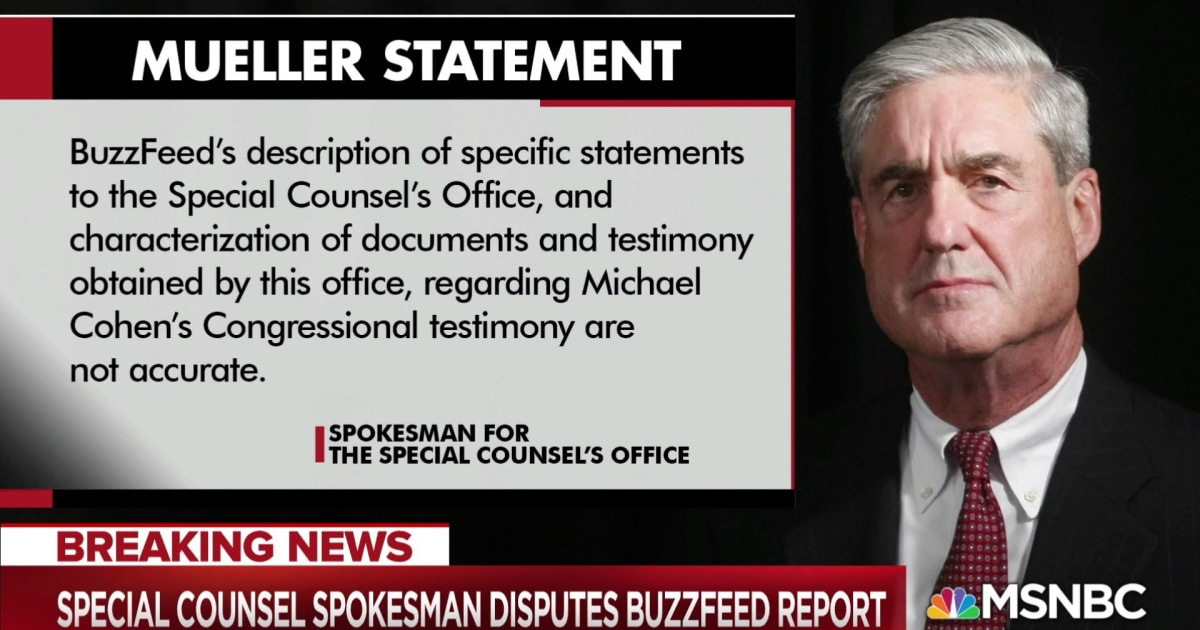 Buzzfeed editor in chief reacts to Mueller statement