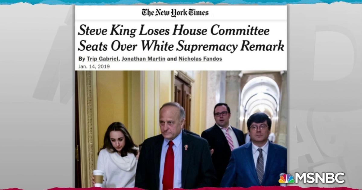 Rep  Steve King racist remarks cost him committee memberships