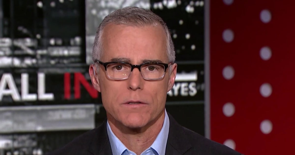 Andrew McCabe tells Chris Hayes the Mueller report should be public