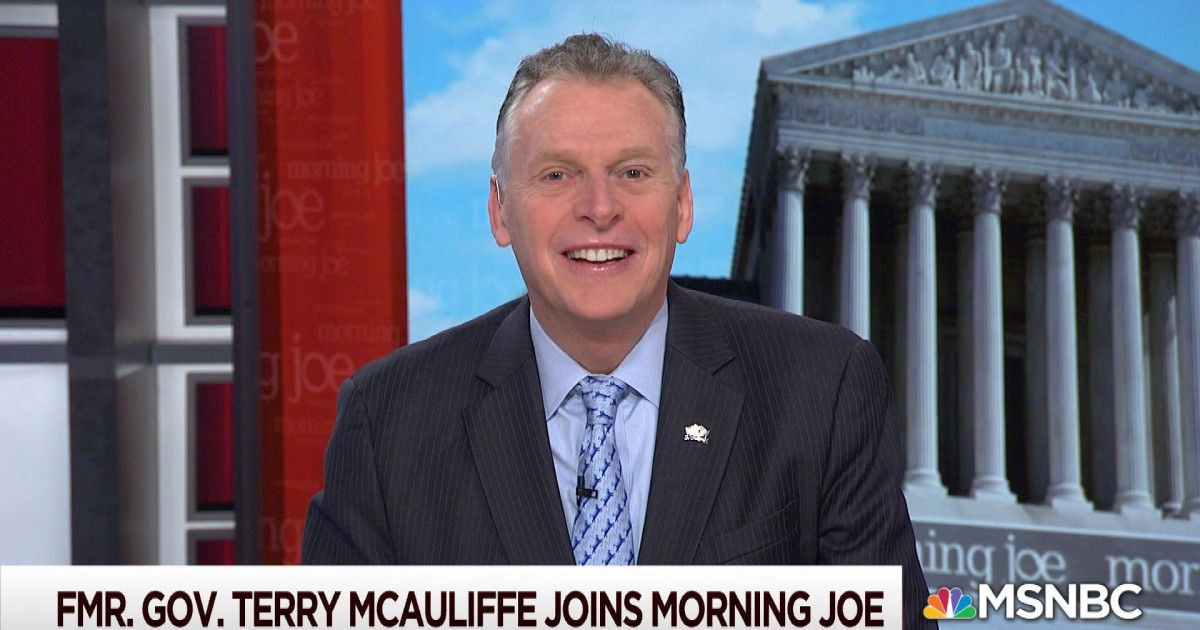 Former Governor Terry McAuliffe joins Morning Joe