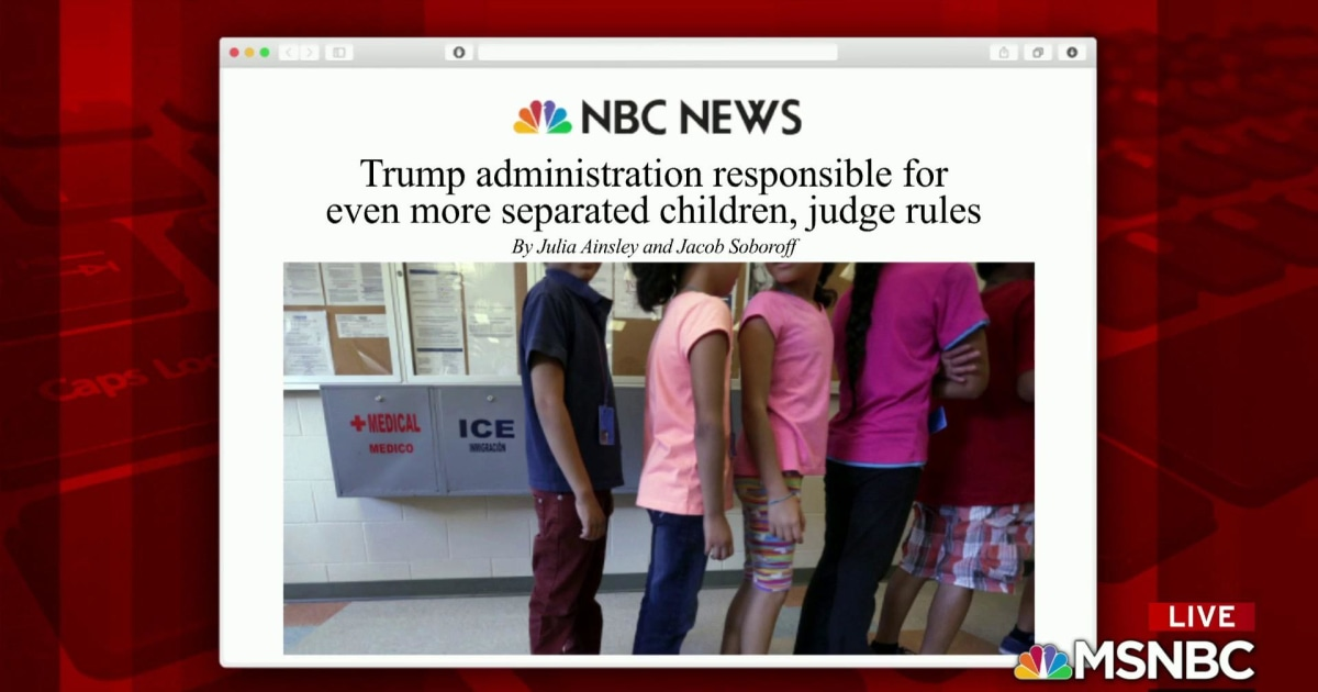 Trump WH responsible for more separated kids: report
