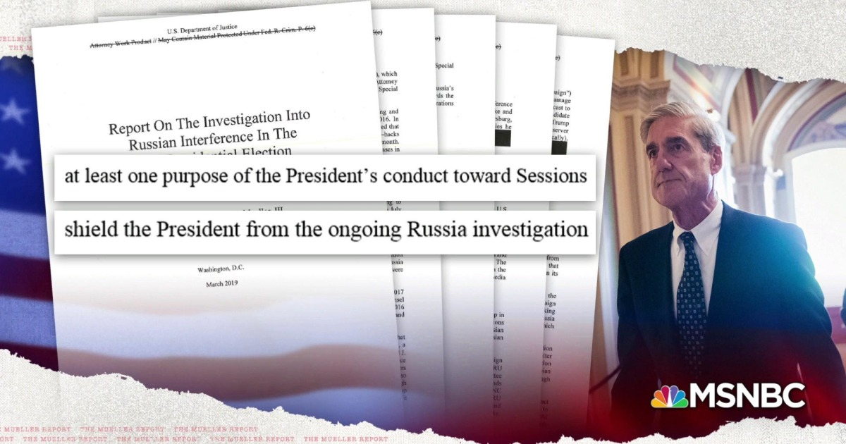 See Mueller's damning criminal obstruction evidence against Trump