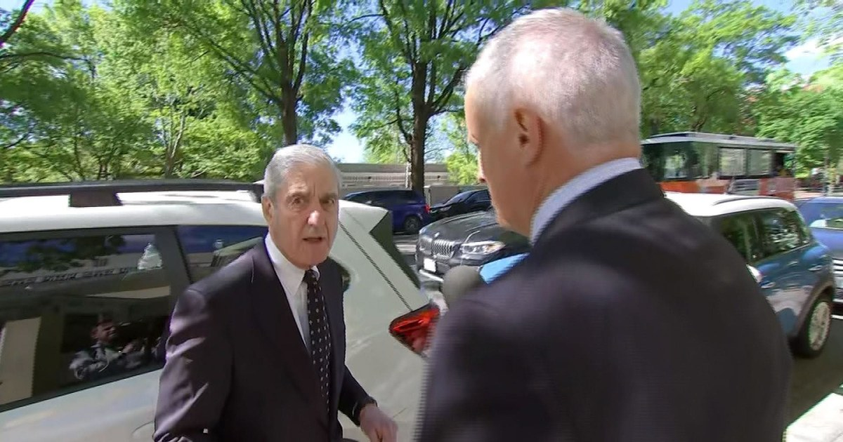 Mueller avoids questions on whether he will testify before Congress after being spotted in D.C.