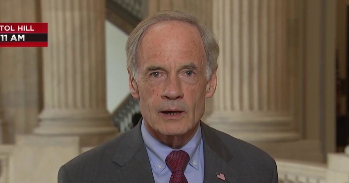 Delaware Sen. Tom Carper endorses Joe Biden