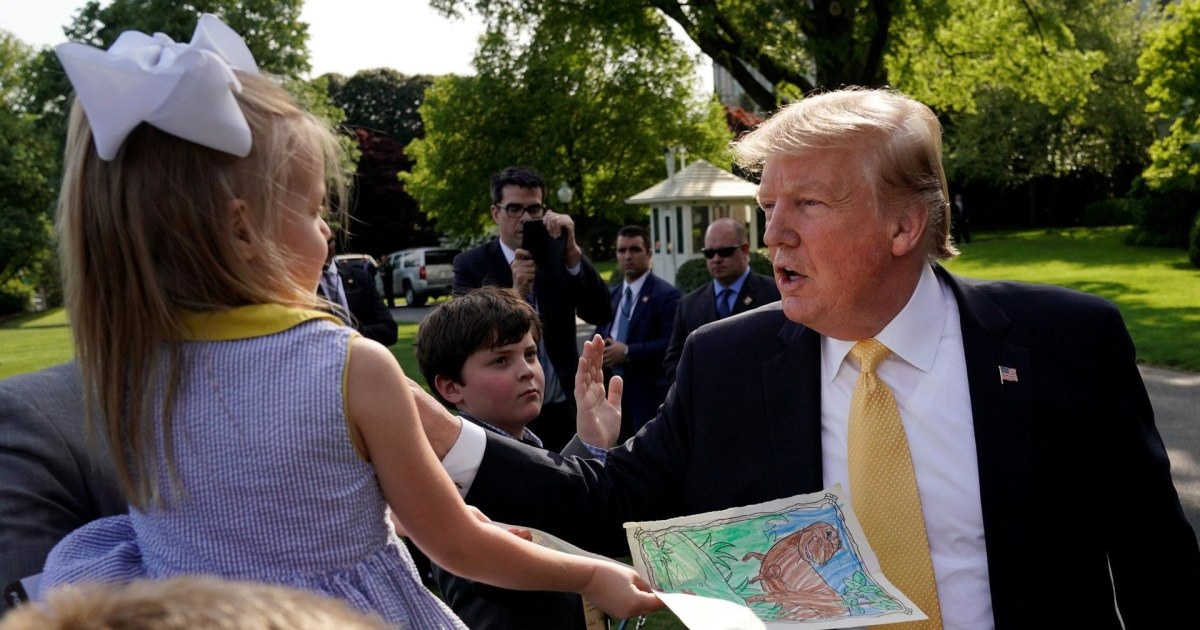 Trump gives kids advice: 'Never take drugs, don't drink alcohol'
