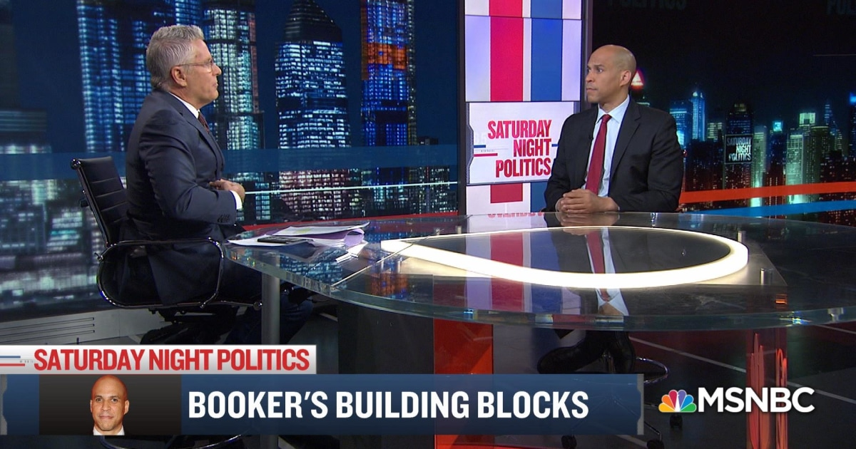 "Donny Deutsch interviews Sen. Cory Booker on MSNBC's ""Saturday Night Politics"""