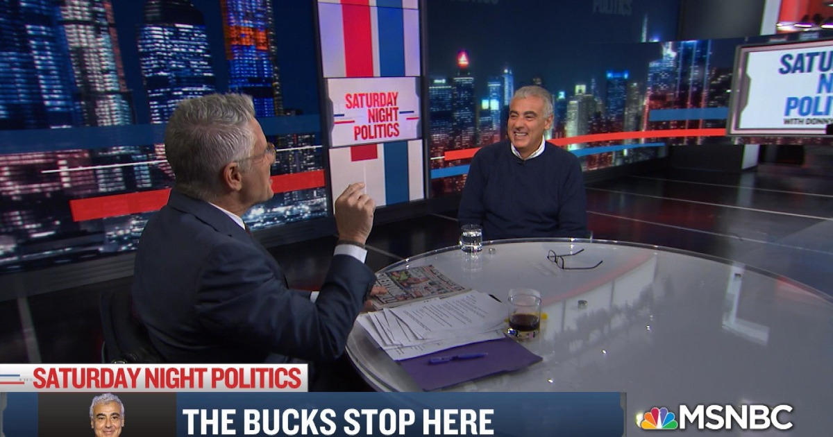 "Donny Deutsch interviews Marc Lasry, Milwaukee Bucks co-owner, on MSNBC's ""Saturday Night Politics"""