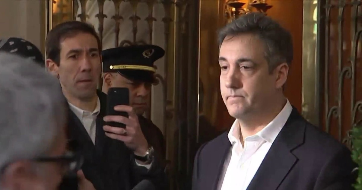 See footage of Trump lawyer Michael Cohen being walked into prison
