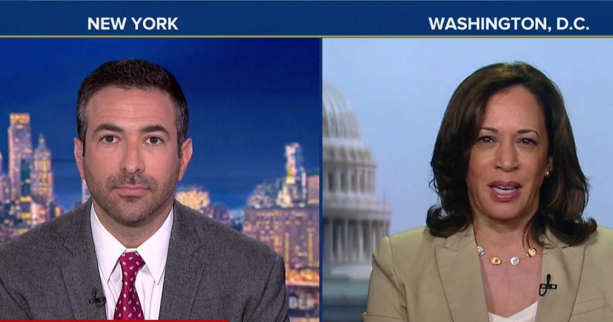 """Harris goes in on Barr: Can't do job, he's """"biased"""" toward Trump"""