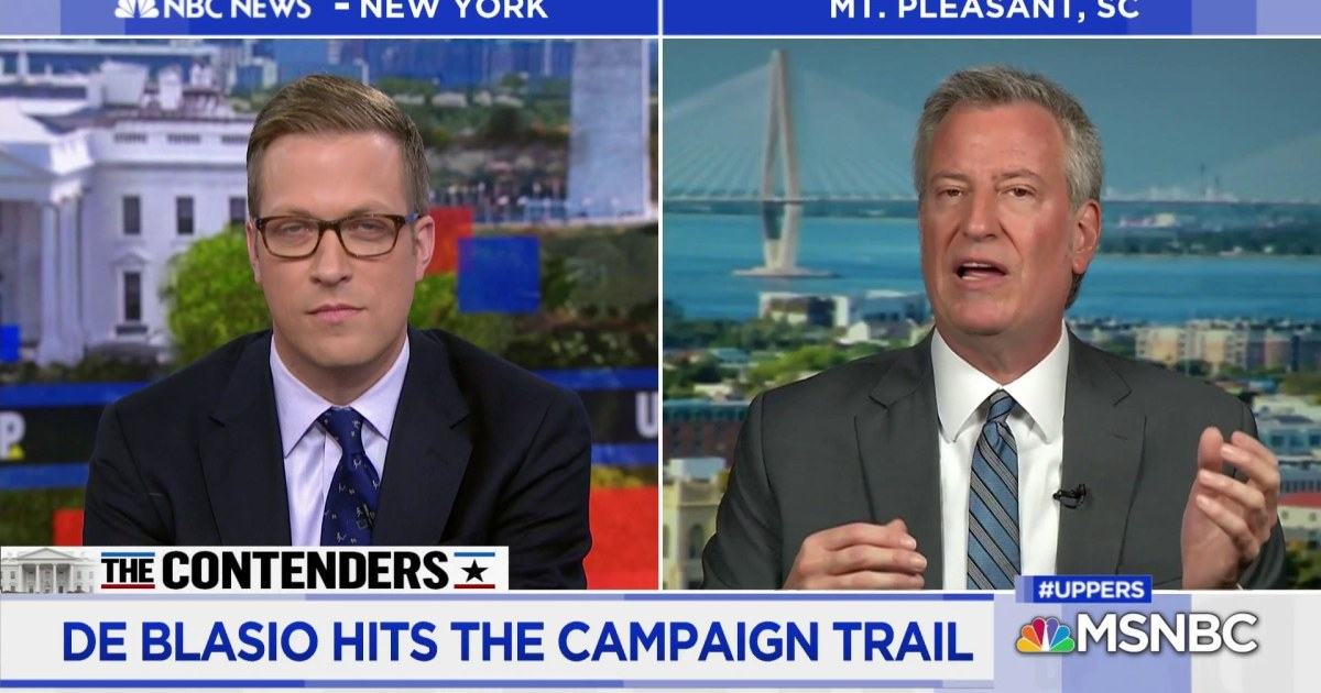 2020 contender and NYC Mayor, Bill de Blasio, speaks with David Gura days after hitting the campaign trail.