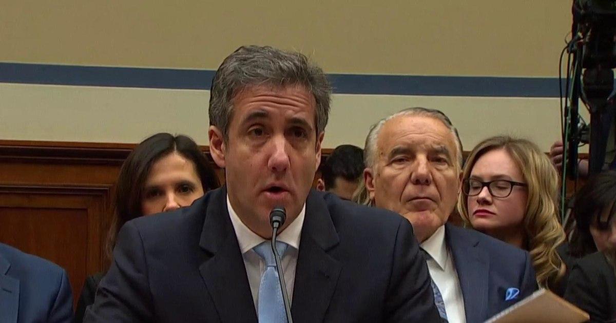 Cohen: Trump encouraged me to lie to Congress