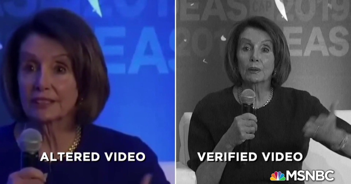 Manipulated videos of Nancy Pelosi spread on social media