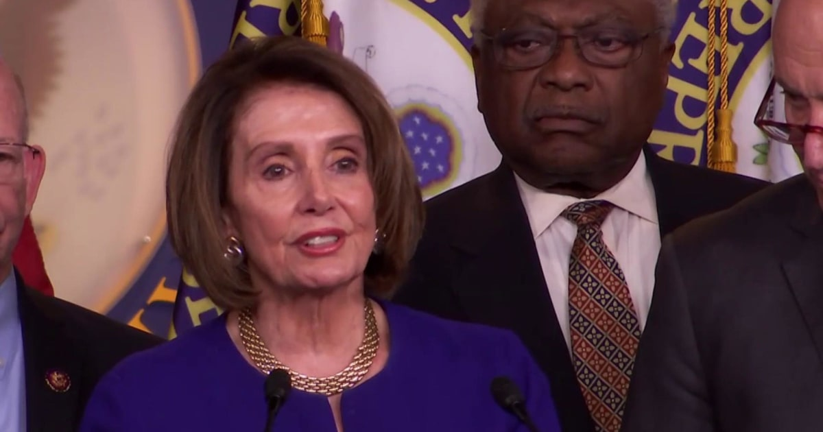 Nancy Pelosi speaks after infrastructure meeting with Trump