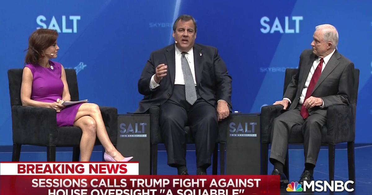 Jeff Sessions and Chris Christie talk AG Barr with Stephanie Ruhle