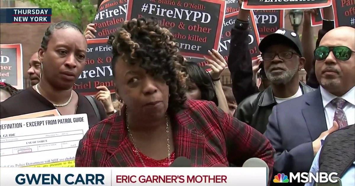 Eric Garner's mom slams officers' 'not a big deal' comment