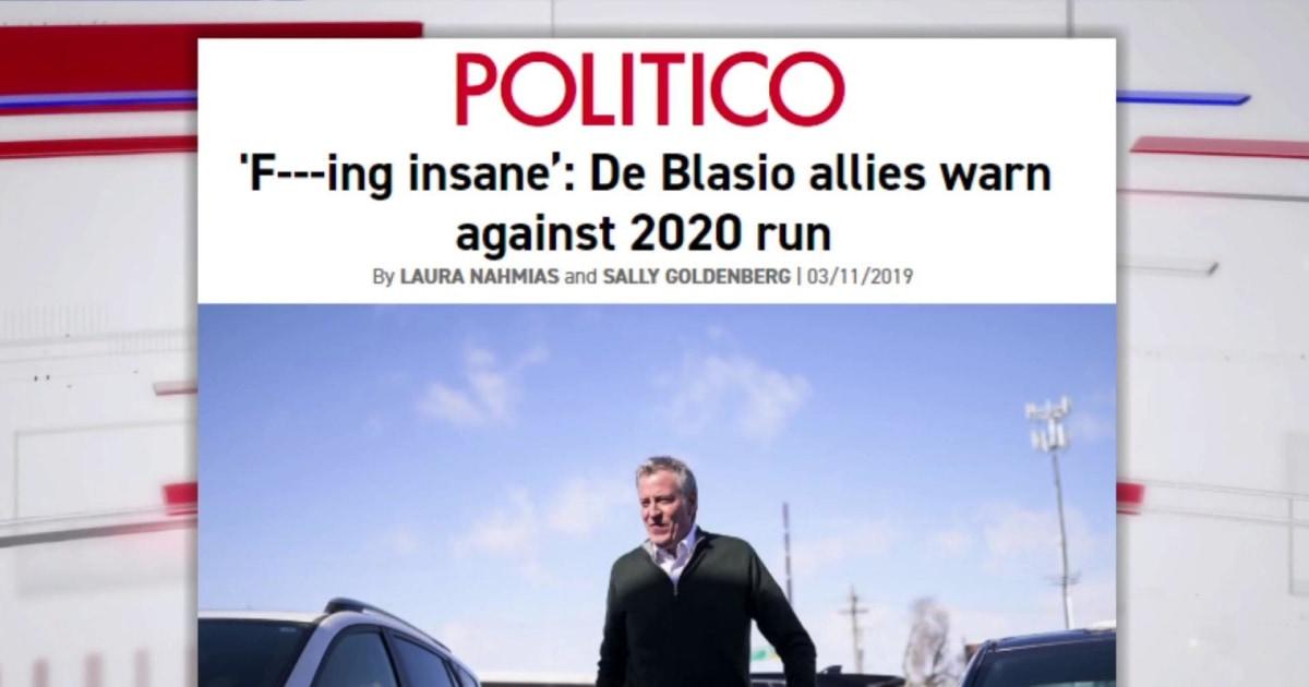 Can de Blasio overcome unpopularity to challenge Trump for president?
