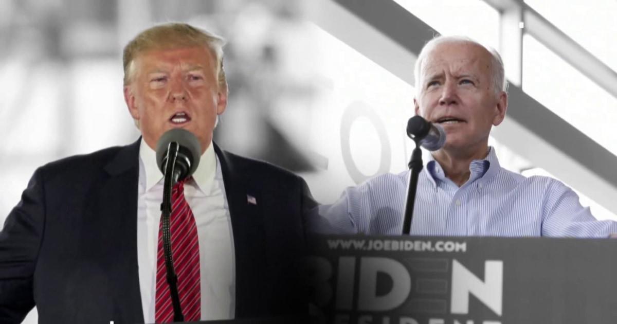 Biden calls Trump an existential threat. Trump says Biden is mentally weak.
