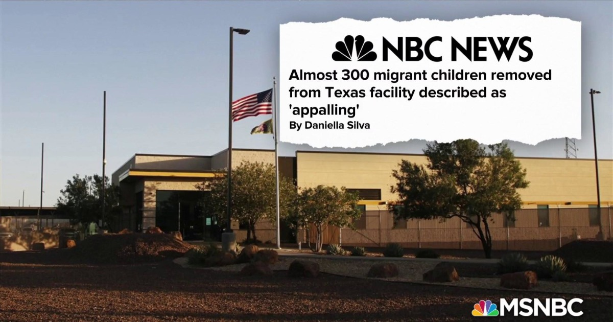 Almost 300 migrant children removed from Texas facility described as 'appalling'