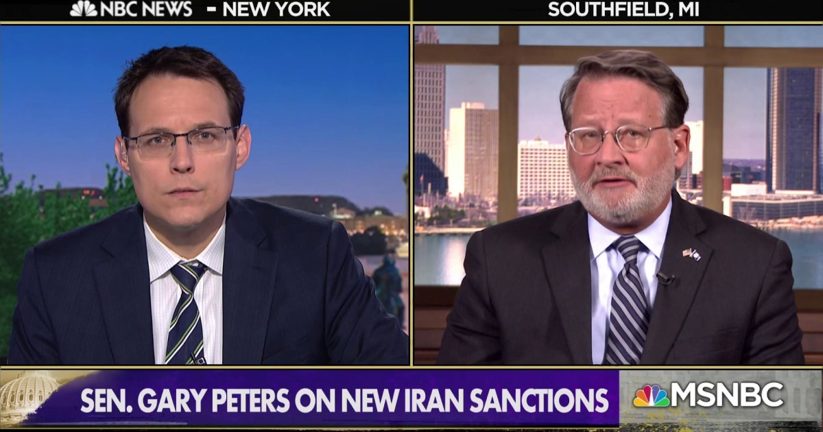 """Sen. Peters: Trump pulled out of the Iran deal, """"now we have chaos'"""
