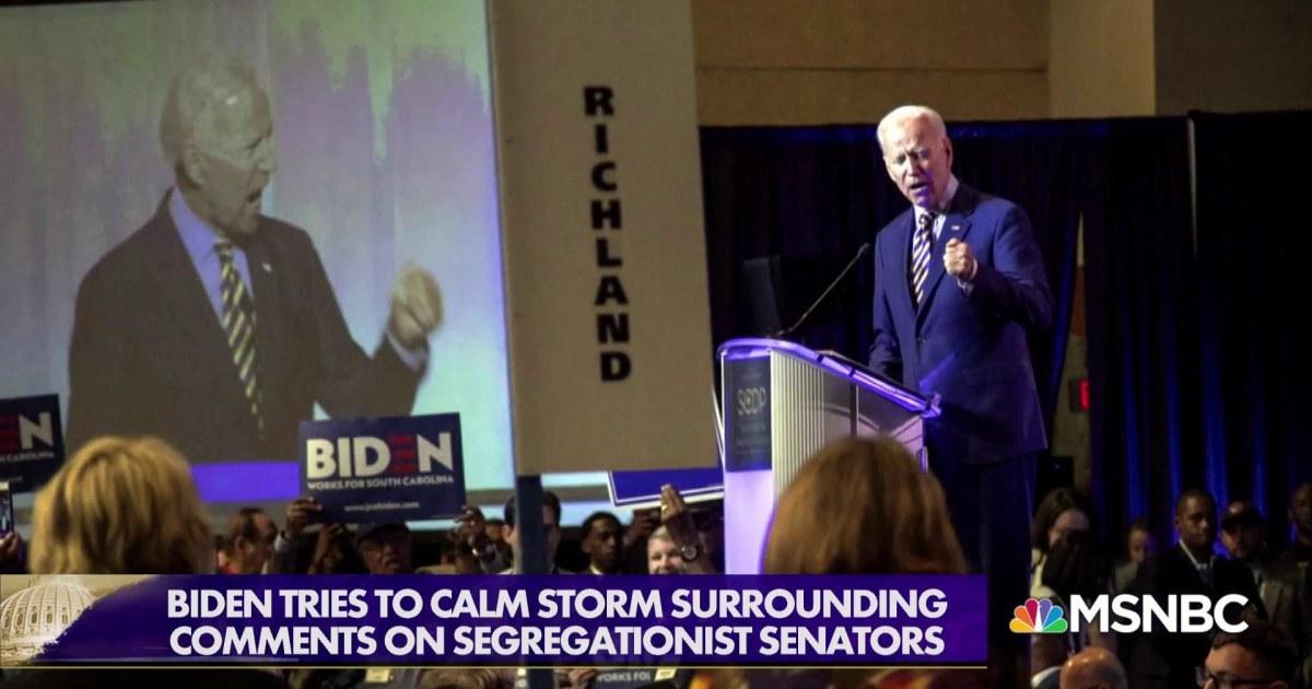 Biden: comments on segregationist Senators taken out of context