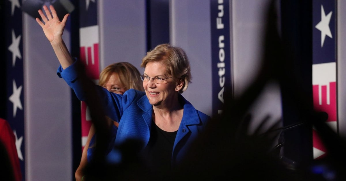 Warren gains lead in MoveOn poll ahead of first primary debate