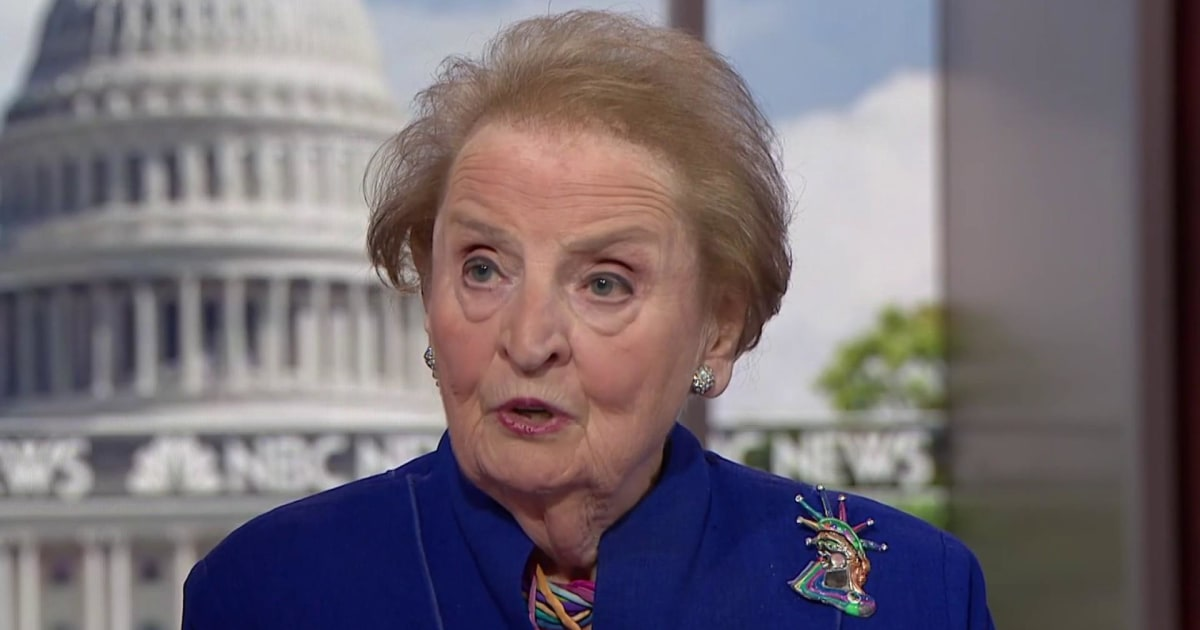 Madeleine Albright reacts to smiling Trump telling Putin 'don't meddle in the election'