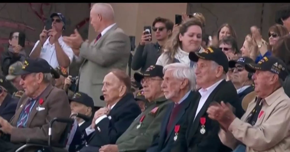 World War II veterans honored on D-Day's 75th anniversary