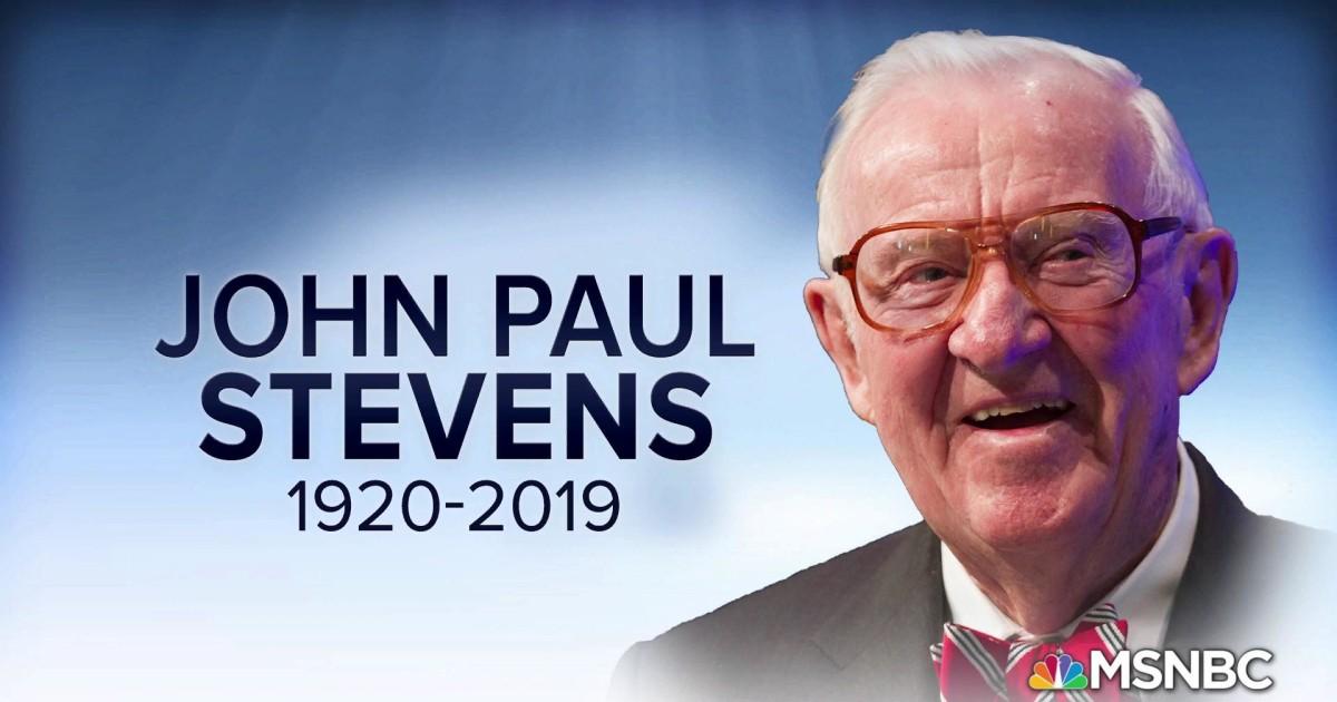 Retired Supreme Court Justice John Paul Stevens Dead at 99