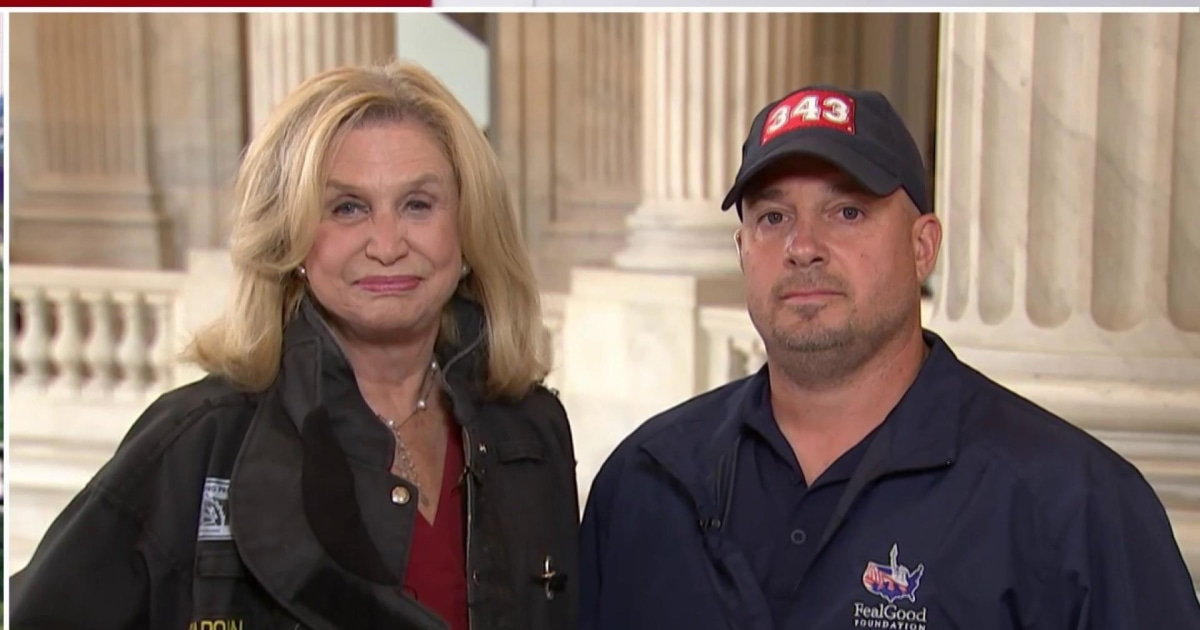 Rep. Carolyn Maloney and 9/11 First Responder speak ahead of Senate vote on Victim's Fund Bill