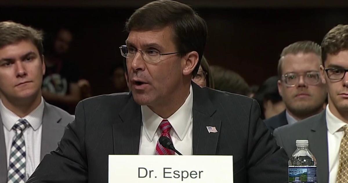 Senators grill Mark Esper, Trump's pick for defense secretary