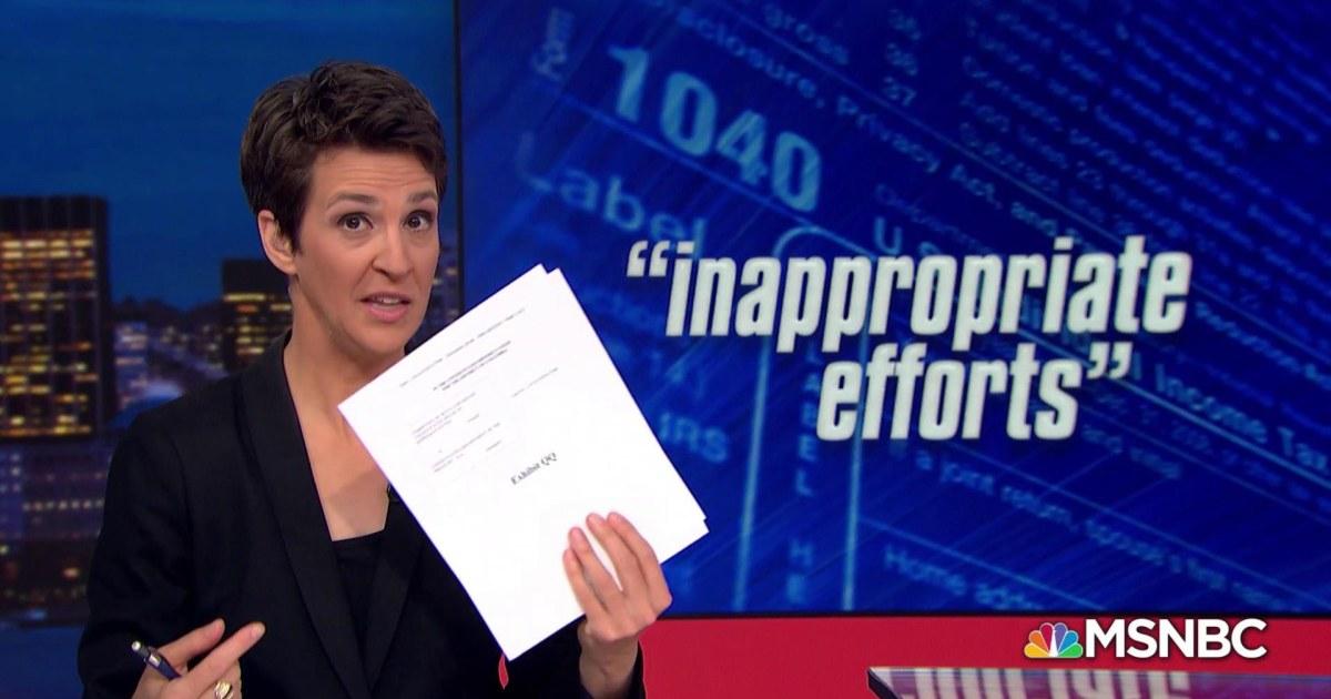 House: Whistleblower alleges undue influence on Trump tax audit
