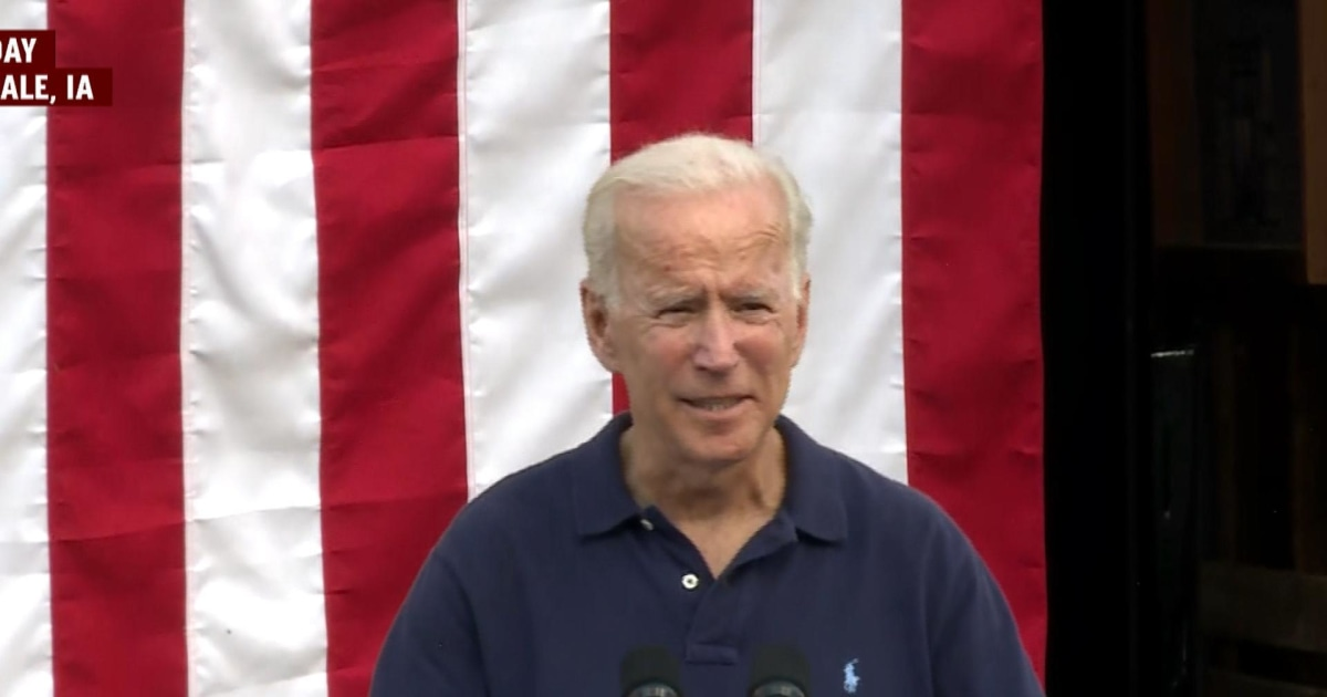 Joe Biden's role as presidential Democratic frontrunner