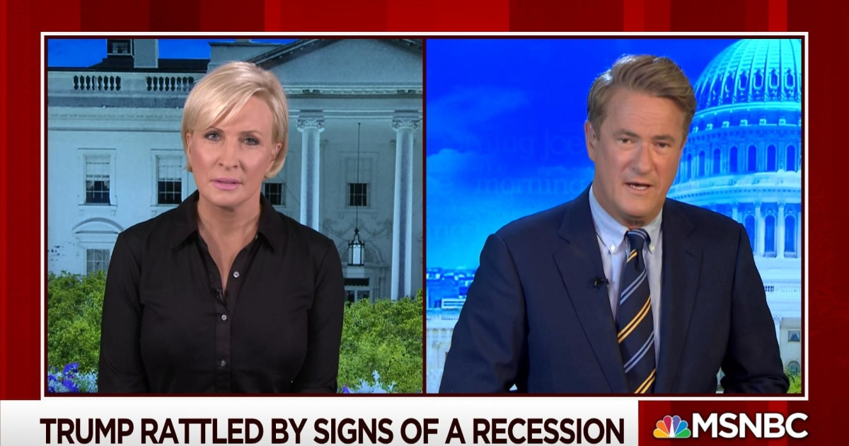 Trump rattled by potential signs of recession