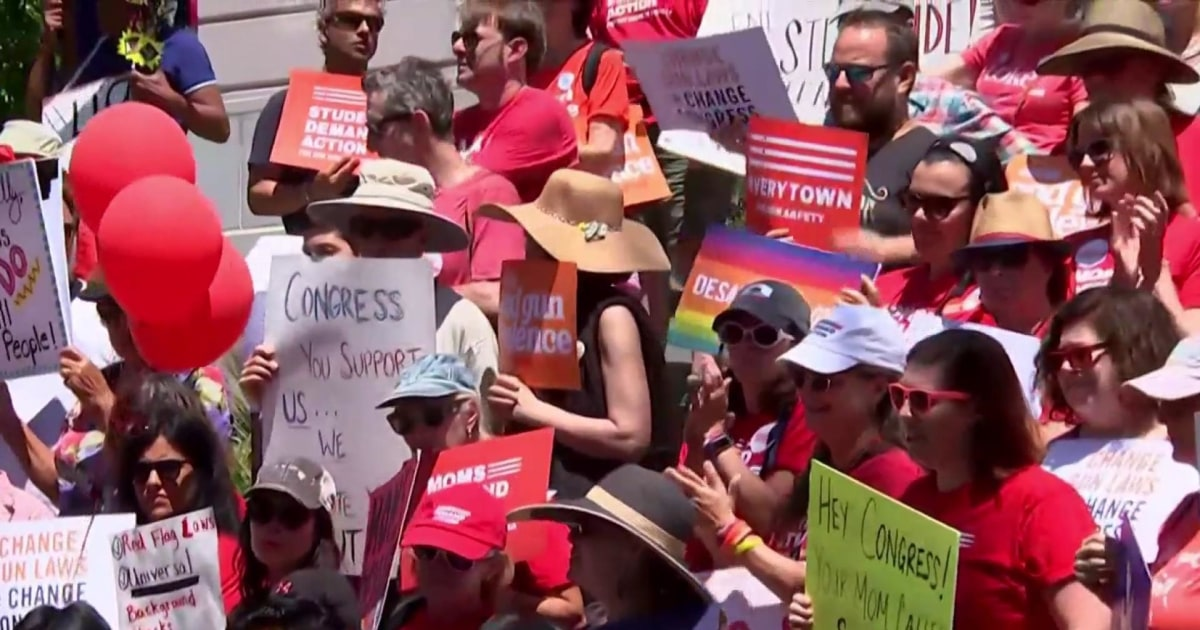 Gun safety advocates hold rallies across the nation urging for Senate action