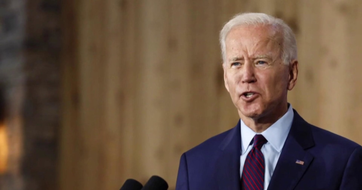 Biden leading in polls, stakes campaign on electability