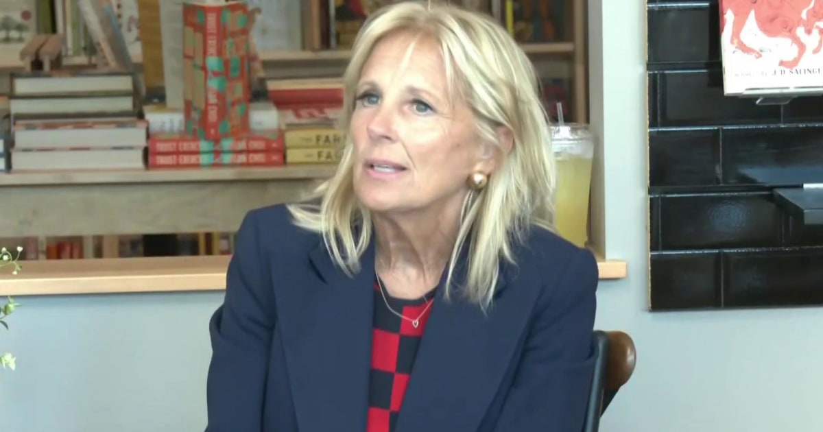 Jill Biden urges Democratic voters to consider former V.P.'s electability