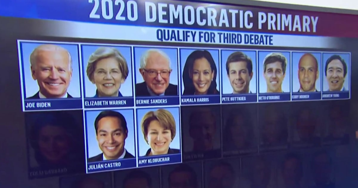 Julian Castro becomes 10th candidate to qualify for third democratic debate