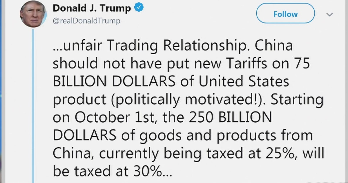 President Trump announces retaliatory tariffs against China