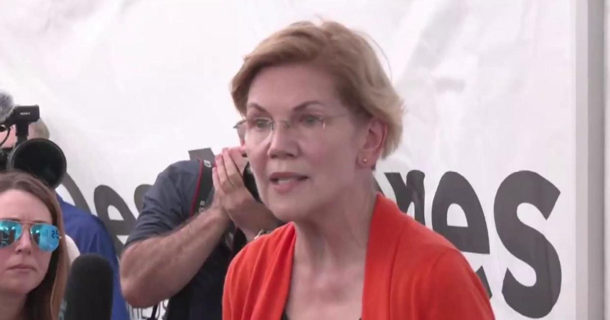 What is Elizabeth Warren's strategy for fall?