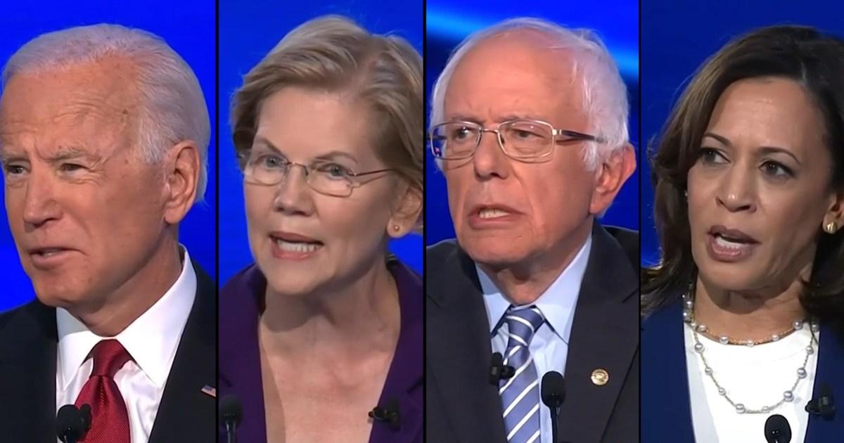 Calon menerkam Warren, pergi setelah Trump di debat Demokratis
