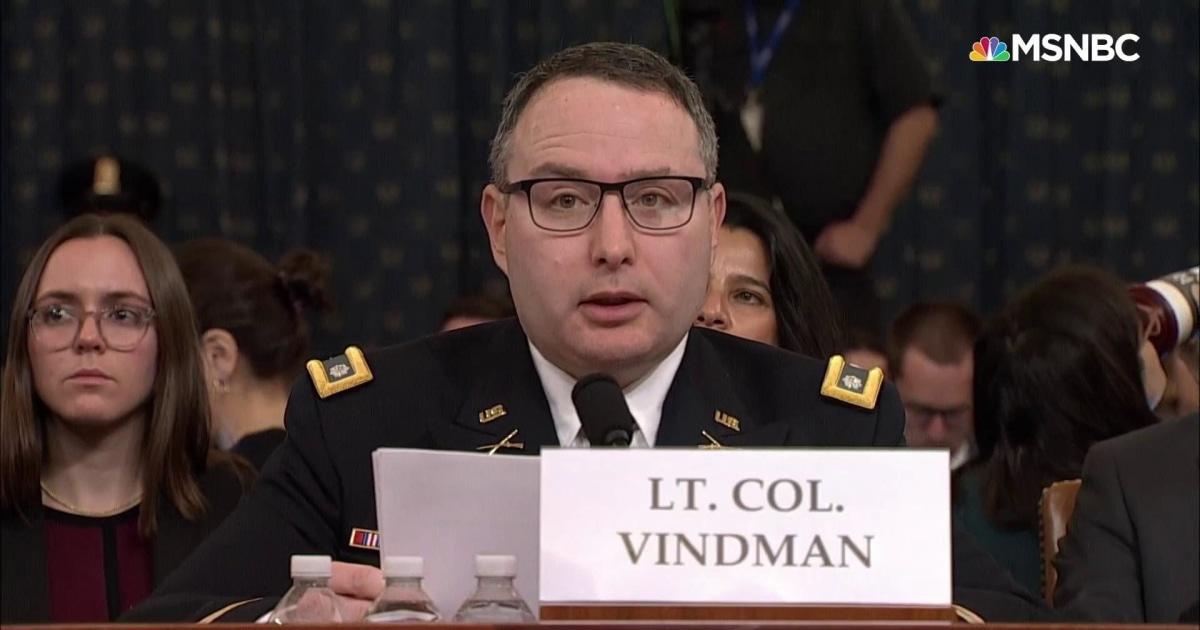 Vindman: Vater, du die richtige Wahl getroffen zu verlassen die Sowjetunion. Ich werde in Ordnung sein für die Wahrheit.