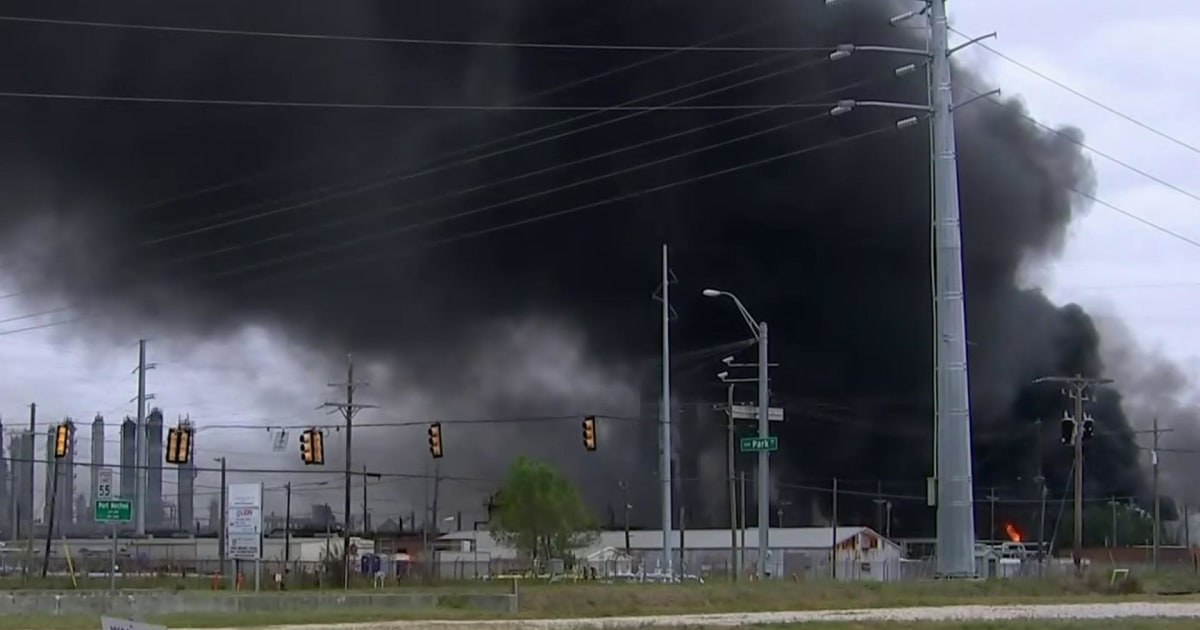 火焼入日テキサス州化学プラントの爆発