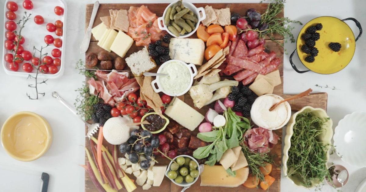 Aktualisieren Sie Ihr Nächstes treffen mit einer Weiden-board, eine wunderschöne Präsentation von snacky Lebensmittel