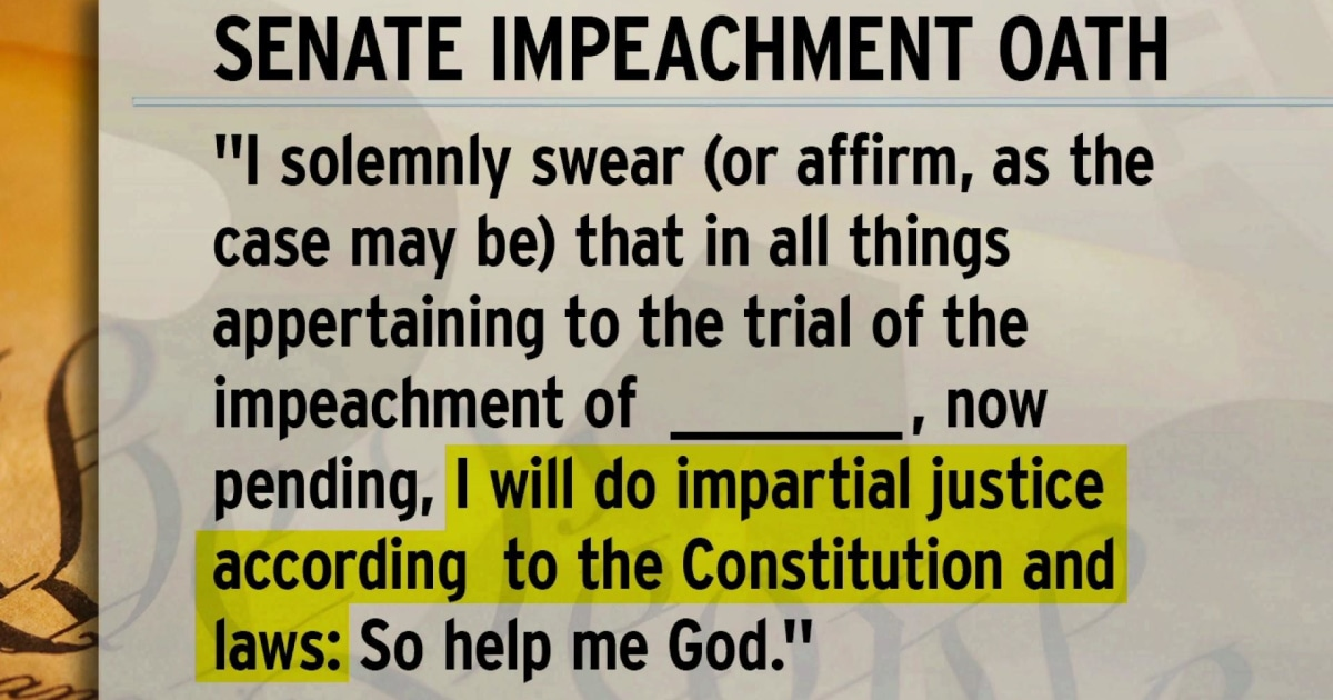 Image result for impeachment oath
