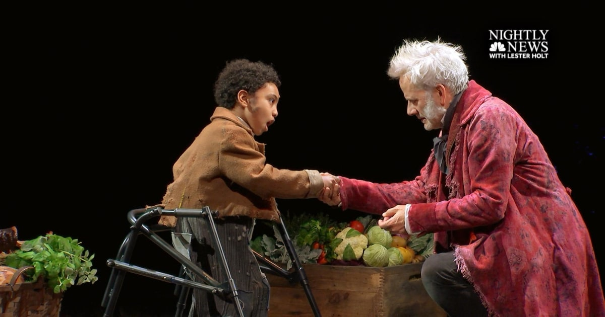 Young actors with cerebral palsy play Tiny Tim in Broadway's A Christmas Carol (Part 2)
