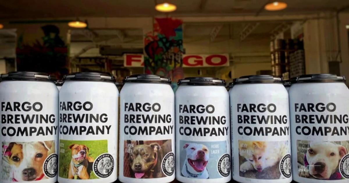 North Dakota Brauerei mit Bier-Dosen zu helfen, Hunde suchen Zuhause für immer